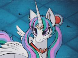 Size: 2732x2048 | Tagged: source needed, safe, artist:kapusta123, princess celestia, alicorn, pony, anime, choker, crossover, female, jewelry, mare, sailor moon, sailor moon redraw meme, serena tsukino, solo, tsukino usagi