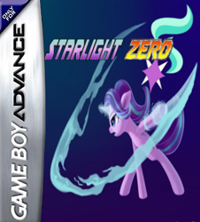 Size: 326x360 | Tagged: safe, artist:4-chap, artist:emeraldgalaxy, artist:mega-poneo, starlight glimmer, crossover, game boy advance, magic, megaman zero, parody, solo, sword, video game, weapon