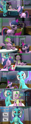 Size: 1920x7560 | Tagged: safe, artist:papadragon69, princess ember, spike, twilight sparkle, alicorn, dragon, comic:spike's cyosa, 3d, argument in the comments, book, choice, comic, cyoa, emberspike, female, looking at you, male, offscreen character, older, older spike, pov, school of friendship, sfm pony, shipping, source filmmaker, straight, teenage spike, teenager, twilight sparkle (alicorn), winged spike