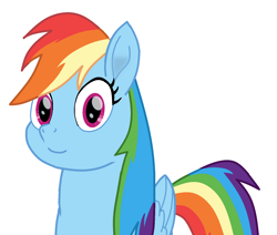 Size: 1651x1401 | Tagged: safe, artist:theawesomeguy98201, rainbow dash, cute, dashabetes, looking at you, movie accurate