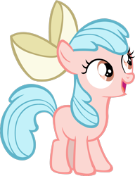 Size: 1600x2083 | Tagged: safe, artist:goldenharmony1, color edit, edit, apple bloom, cozy glow, earth pony, pony, colored, cute, female, filly, palette swap, recolor, simple background, solo, transparent background