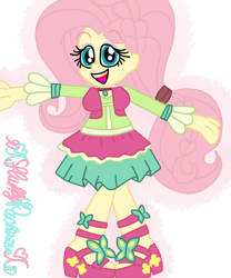 Size: 1024x1229 | Tagged: safe, artist:xxfluffypachirisuxx, fluttershy, equestria girls, friendship through the ages, folk fluttershy, simple background, solo, transparent background