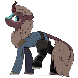 Size: 2100x2100 | Tagged: safe, artist:crimmharmony, kirin, fallout equestria, commission, simple background, solo, transparent background