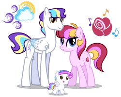 Size: 1280x1024 | Tagged: safe, artist:helenosprime, oc, oc only, earth pony, pegasus, pony, baby, baby pony, female, male, mare, oc x oc, offspring, parents:oc x oc, shipping, simple background, stallion, straight, transparent background