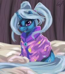 Size: 3000x3429 | Tagged: safe, artist:artsgalinn, trixie, unicorn, babysitter trixie, clothes, female, hoodie