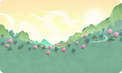 Size: 954x572 | Tagged: safe, background, gameloft, mountain, no pony, outdoors, resource, river, tree