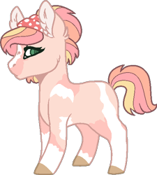 Size: 484x538 | Tagged: safe, artist:jaysey, artist:klawiee, oc, oc only, earth pony, base used, blank flank, colored hooves, earth pony oc, female, filly, offspring, parent:big macintosh, parent:fluttershy, parents:fluttermac, pinto, simple background, solo, transparent background