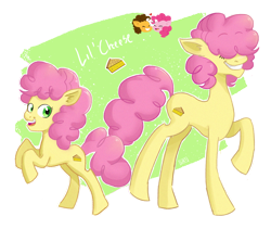 Size: 1280x1080 | Tagged: safe, artist:laescbr, cheese sandwich, li'l cheese, pinkie pie, earth pony, the last problem, cheesepie, female, male, next generation, nonbinary, older li'l cheese, shipping, simple background, straight, transparent background