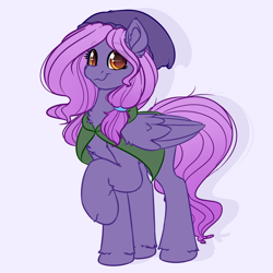 Size: 4000x4000 | Tagged: safe, artist:witchtaunter, oc, oc only, pegasus, pony, beanie, cape, clothes, commission, female, hat, hood, mare, raised hoof, solo