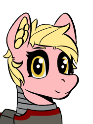 Size: 600x800 | Tagged: safe, oc, oc only, oc:strawberry lemonade, fallout equestria, bust, cute, portrait, simple background, solo, steel ranger, transparent background