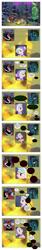 Size: 868x5167 | Tagged: safe, artist:dziadek1990, edit, edited screencap, screencap, cozy glow, lord tirek, queen chrysalis, frenemies (episode), campfire, candyland, comic, conversation, dialogue, food, love, marshmallow, screencap comic, slice of life, text