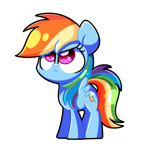 Size: 4300x4300 | Tagged: safe, artist:sugar morning, rainbow dash, pegasus, pony, :<, absurd resolution, angry, cute, dashabetes, looking up, madorable, simple background, solo, standing, transparent background