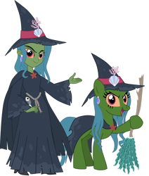 Size: 1600x1884 | Tagged: safe, artist:shadymeadow95, oc, oc:marine curse, equestria girls, broom, hat, simple background, solo, transparent background, witch hat