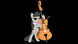 Size: 1280x720 | Tagged: safe, artist:juggybuggy305, octavia melody, pony, black background, cello, musical instrument, simple background, solo