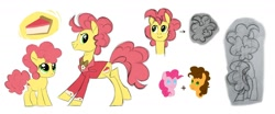 Size: 1280x532 | Tagged: safe, artist:varwing, cheese sandwich, li'l cheese, pinkie pie, pony, the last problem, cheesepie, clothes, female, male, older, older li'l cheese, shipping, straight, suit