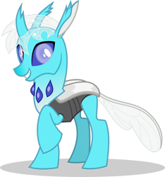Size: 1280x1366 | Tagged: safe, artist:mlp-trailgrazer, oc, oc:sacred skyheart, changedling, changeling, female, simple background, solo, transparent background