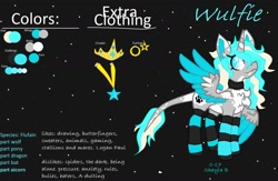 Size: 1566x1024   Tagged: safe, artist:_wulfie, oc, oc only, alicorn, pony, alicorn oc, clothes, female, horn, jewelry, leonine tail, mare, necklace, reference sheet, socks, solo, striped socks, text, tiara, wings