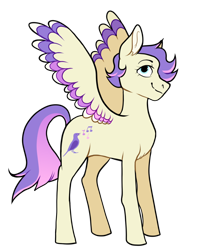 Size: 1024x1228 | Tagged: safe, artist:malphym, oc, oc only, oc:meadowlark, pegasus, pony, magical lesbian spawn, nonbinary, offspring, parent:fluttershy, parent:rarity, parents:flarity, simple background, solo, transparent background