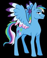 Size: 906x1134 | Tagged: safe, artist:malphym, oc, oc only, oc:dazzle flash, pegasus, pony, female, magical lesbian spawn, mare, multicolored hair, offspring, parent:rainbow dash, parent:trixie, parents:trixdash, rainbow hair, simple background, solo, transparent background