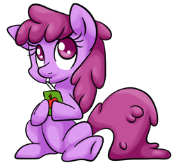 Size: 722x687 | Tagged: safe, artist:srsishere, berry punch, berryshine, earth pony, pony, berrybetes, cute, drink, drinking, female, juice, juice box, mare, simple background, sitting, solo, straw, transparent background