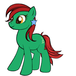 Size: 1024x1024 | Tagged: safe, artist:titus16s, oc, oc only, oc:strings melody, earth pony, pony, ear piercing, earring, jewelry, piercing, simple background, transparent background