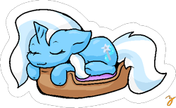 Size: 484x299 | Tagged: safe, artist:zutcha, trixie, pony, unicorn, basket, simple background, sleeping, solo, transparent background