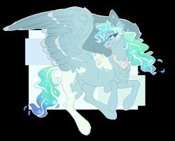 Size: 2696x2169 | Tagged: safe, artist:holoriot, oc, oc:silver eclipse, pegasus, pony, female, magical lesbian spawn, mare, offspring, parent:princess luna, parent:vapor trail, simple background, solo, transparent background