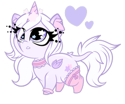 Size: 1800x1507   Tagged: safe, artist:starlightlore, oc, oc:sugar star crystal, alicorn, pony, chibi, choker, clothes, female, mare, simple background, socks, solo, transparent background