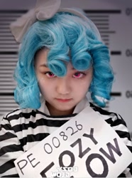 Size: 716x960 | Tagged: safe, cozy glow, human, clothes, cosplay, costume, irl, irl human, mugshot, photo