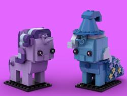 Size: 800x600 | Tagged: safe, starlight glimmer, trixie, pony, unicorn, brickheadz, lego, legobrickheadz