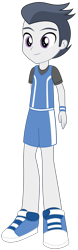 Size: 985x3158 | Tagged: safe, artist:lhenao, rumble, equestria girls, clothes, equestria girls-ified, male, simple background, solo, transparent background, uniform