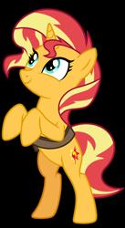 Size: 1024x1862 | Tagged: safe, artist:emeraldblast63, sunset shimmer, pony, equestria girls, mirror magic, spoiler:eqg specials, bag, bipedal, cute, saddle bag, shimmerbetes, simple background, solo, transparent background