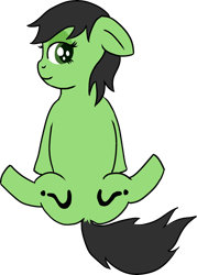 Size: 1666x2332 | Tagged: safe, artist:poniidesu, oc, oc only, oc:filly anon, earth pony, pony, both cutie marks, dock, drawthread, earth pony oc, female, filly, simple background, solo, transparent background