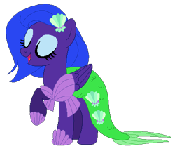 Size: 446x383 | Tagged: safe, artist:optimusv42, starsong, mermaid, pegasus, pony, clothes, costume, fan version, friendship troopers, g3, my little pony friendship troopers, nightmare night, nightmare night costume, the little mermaid