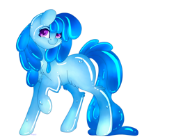 Size: 5000x4000 | Tagged: safe, artist:blueeternalflame, derpibooru exclusive, oc, oc only, oc:flowheart, goo, goo pony, original species, cute, solo