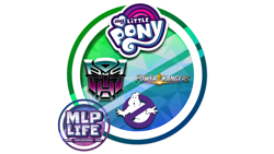 Size: 1100x619 | Tagged: safe, ghostbusters, my little pony logo, power rangers, transformers