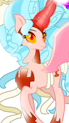 Size: 1080x1920 | Tagged: safe, artist:sallyso, cozy glow, alicorn, pony, the ending of the end, alicornified, cozycorn, female, giant demon alicorn cozy glow, mare, race swap