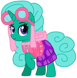 Size: 1060x1071 | Tagged: safe, artist:徐詩珮, glitter drops, pony, unicorn, series:sprglitemplight diary, series:sprglitemplight life jacket days, series:springshadowdrops diary, series:springshadowdrops life jacket days, alternate universe, base used, cat skye (paw patrol), clothes, cute, mean glitter drops, paw patrol, simple background, the catastrophe crew, transparent background
