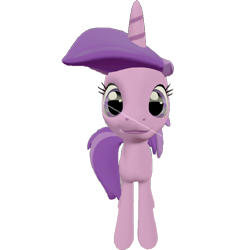 Size: 678x720 | Tagged: safe, artist:topsangtheman, amethyst star, sparkler, pony, unicorn, 3d, looking at you, simple background, solo, source filmmaker, transparent background
