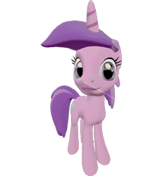 Size: 661x720 | Tagged: safe, artist:topsangtheman, amethyst star, sparkler, pony, unicorn, 3d, looking at you, simple background, solo, source filmmaker, transparent background