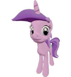 Size: 662x720 | Tagged: safe, artist:topsangtheman, amethyst star, sparkler, pony, unicorn, 3d, looking at you, simple background, solo, source filmmaker, transparent background