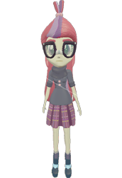 Size: 496x720 | Tagged: safe, artist:topsangtheman, moondancer, equestria girls, 3d, glasses, looking at you, simple background, solo, source filmmaker, transparent background