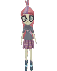 Size: 582x720 | Tagged: safe, artist:topsangtheman, moondancer, equestria girls, 3d, glasses, looking at you, simple background, solo, source filmmaker, transparent background
