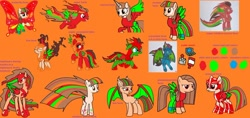 Size: 1024x485 | Tagged: safe, artist:twidashfan1234, nightmare moon, pinkie pie, princess cadance, rainbow dash, rarity, twilight sparkle, oc, oc only, oc:firefly solstice, alicorn, bat pony, pegasus, pony, action pose, alicornified, angry, armor, armored pony, artificial wings, augmented, bangs, base used, bases used, bat ears, bat pony oc, bat wings, black, blue, blue coat, blue eyes, brown, brown eyes, brown mane, butterfly wings, chin up, closed mouth, clothes, clothes on pony, colored wings, cutie mark, digital art, digital artwork, donut steel, equine, evil, evil grin, eyebrows, eyes closed, eyes open, fangs, female, flying, folded wings, food, gossamer wings, green, green coat, green eyes, grin, helmet, hind legs, hoof shoes, hooves, horn, jewelry, large wings, lines, looking away, low res image, lowres, makeup, mane of fire, mare, multicolored hair, multicolored mane, multicolored tail, multicolored wings, needs more saturation, nightmare, open mouth, orange, orange background, pants, pegasus oc, peytral, pinkamena diane pie, ponysona, race swap, rainbow power, rainbow power rainbow dash, rainbow power twilight sparkle, rainbow power-ified, raised hoof, recolor, red, red coat, red eyes, red eyes take warning, red eyeshadow, reference sheet, regalia, royal guard, shirt, shoes, showing teeth, simple background, slit eyes, smiling, sneakers, spread wings, stance, standing, stars, striped mane, super form, tan coat, teeth, traditional art, twilight sparkle (alicorn), wall of tags, wat, white, windswept hair, windswept mane, windswept tail, wings, yellow