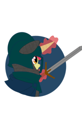 Size: 1080x1642 | Tagged: artist needed, safe, oc, oc only, pony, unicorn, equestria at war mod, armor, chainmail, chest plate, cloak, clothes, helmet, knight, magic, medieval, river republic, simple background, solo, sword, telekinesis, transparent background, weapon
