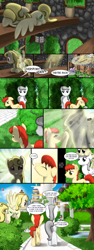 Size: 1500x3975 | Tagged: safe, artist:nimaru, oc, oc only, oc:crabapple, oc:rook, earth pony, pegasus, pony, comic:crabapple and willow, female, male, mare, stallion
