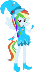 Size: 316x656 | Tagged: safe, artist:selenaede, artist:user15432, rainbow dash, human, equestria girls, barely eqg related, base used, boots, clothes, cosplay, costume, crossover, cutie mark, ear piercing, earring, element of loyalty, gloves, hat, jewelry, magical doremi, ojamajo doremi, piercing, ponied up, shoes, wings, witch, witch apprentice, witch costume, witch hat
