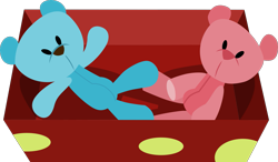 Size: 1629x953 | Tagged: safe, artist:thatusualguy06, a flurry of emotions, .svg available, box, no pony, simple background, teddy bear, transparent background, vector
