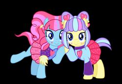 Size: 8400x5812 | Tagged: safe, artist:emeraldblast63, kiwi lollipop, supernova zap, pony, equestria girls, equestria girls series, sunset's backstage pass!, spoiler:eqg series (season 2), equestria girls ponified, k-lo, ponified, ponyified, postcrush, simple background, su-z, transparent background