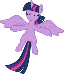 Size: 4000x4618 | Tagged: safe, artist:melisareb, twilight sparkle, alicorn, pony, deep tissue memories, spoiler:deep tissue memories, spoiler:mlp friendship is forever, .svg available, absurd resolution, cute, eyes closed, female, inkscape, mare, simple background, solo, transparent background, twiabetes, twilight sparkle (alicorn), vector, wings